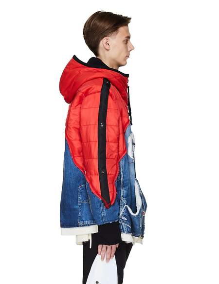 Greg Lauren Quilted & Denim USA Jacket - Multicolor