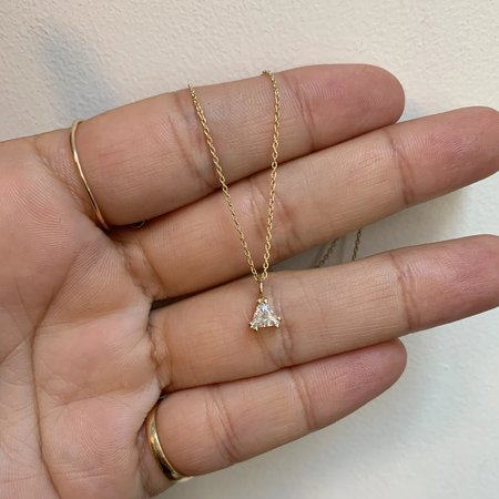 Tarin Thomas Trillion Diamond Necklace - 14k Yellow Gold