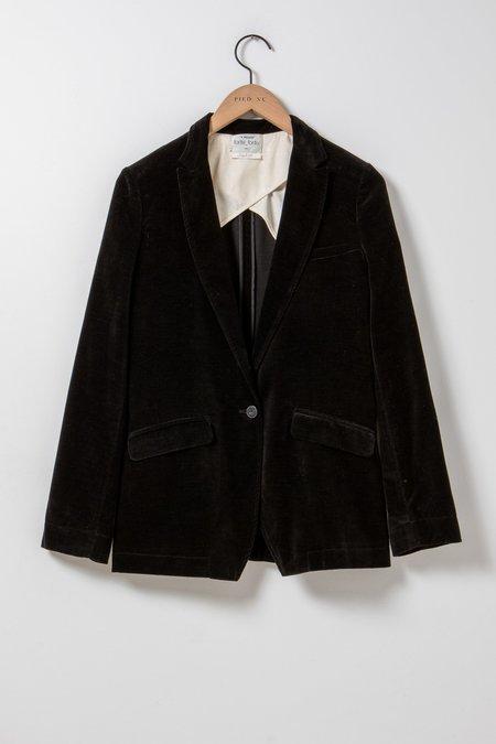 Forte Forte Slubbed Cotton Velvet Jacket - black