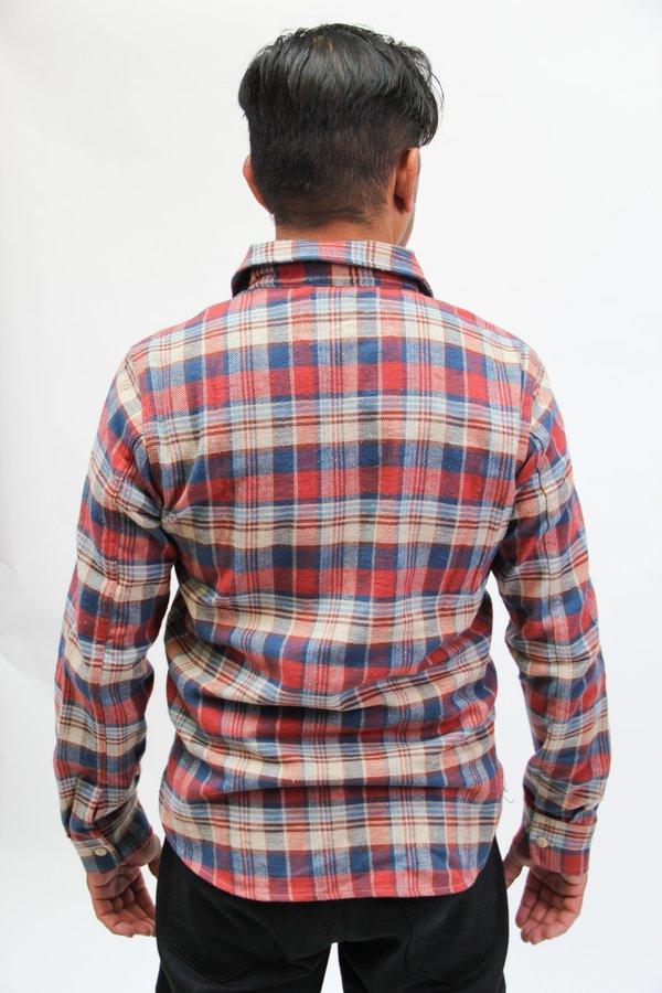 Rogue Territory Work Shirt Short Sleeve Blue Camo Dobby