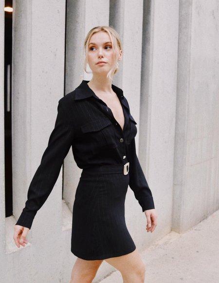 Vintage Sandro Skirt Set - Black