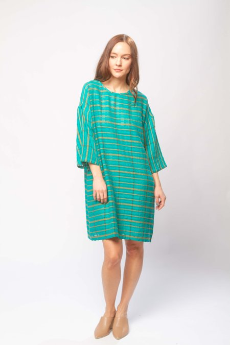Ace & Jig Liv mini dress - peacock