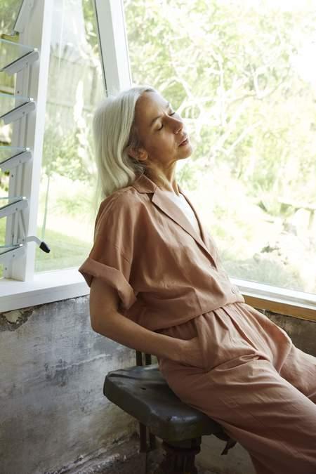 Ozma Maison Cotton Silk shirt - Rosehip