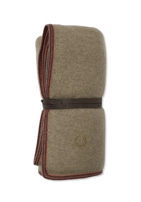 Oyuna Toscani Versatile Framed Cashmere Travel Throw - Taupe