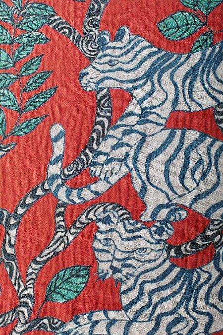 Olivia Wendel Red Tiger Landscape Blanket