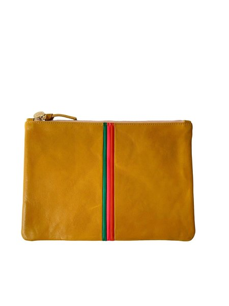 Clare V. Flat Clutch - Yellow Rustic
