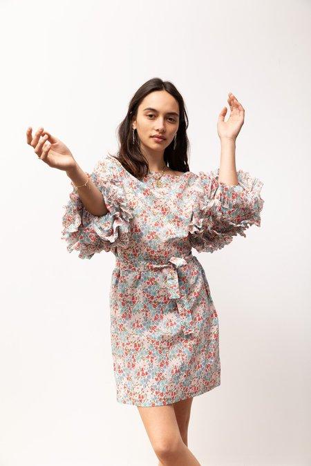 BEFORE MARCH Anna Ruffle Dress - Liberty Print