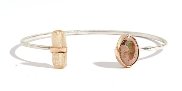 Melissa Joy Manning Jelly Opal and Imperial Topaz Cuff