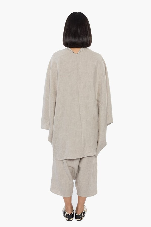 The Celect Poncho Top - Natural