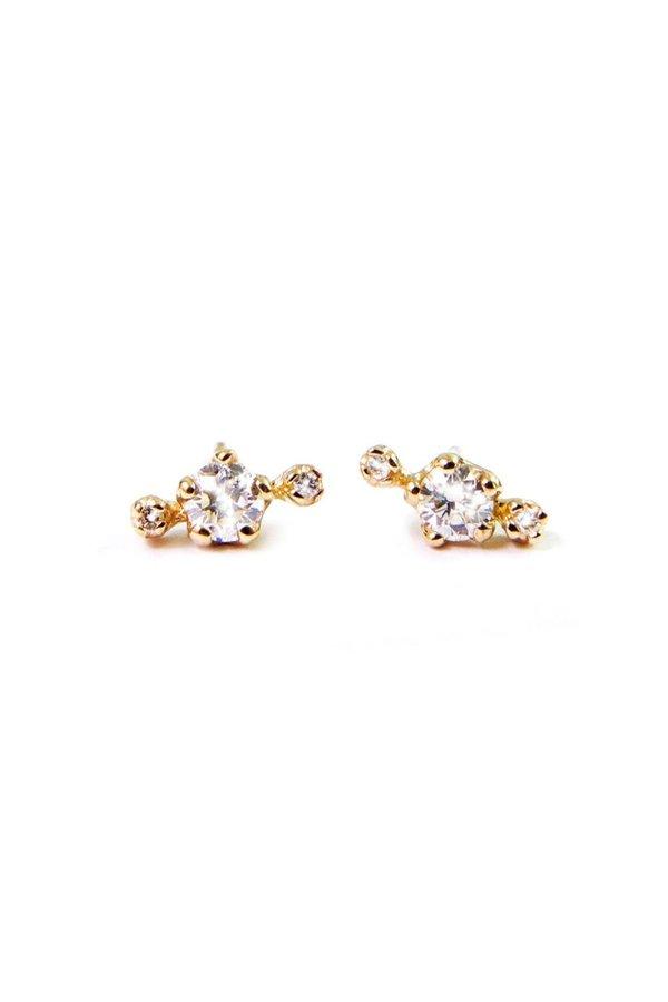 n + a Candy! Diamond Earrings - Yellow Gold