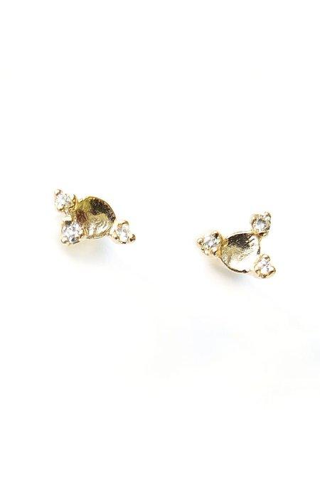 n + a Diamond Meteor Earrings - Yellow Gold