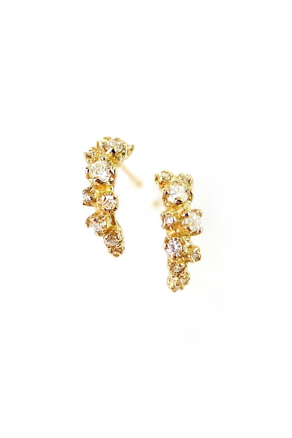 n + a Wisteria Earrings W/ Diamond - 14K Gold