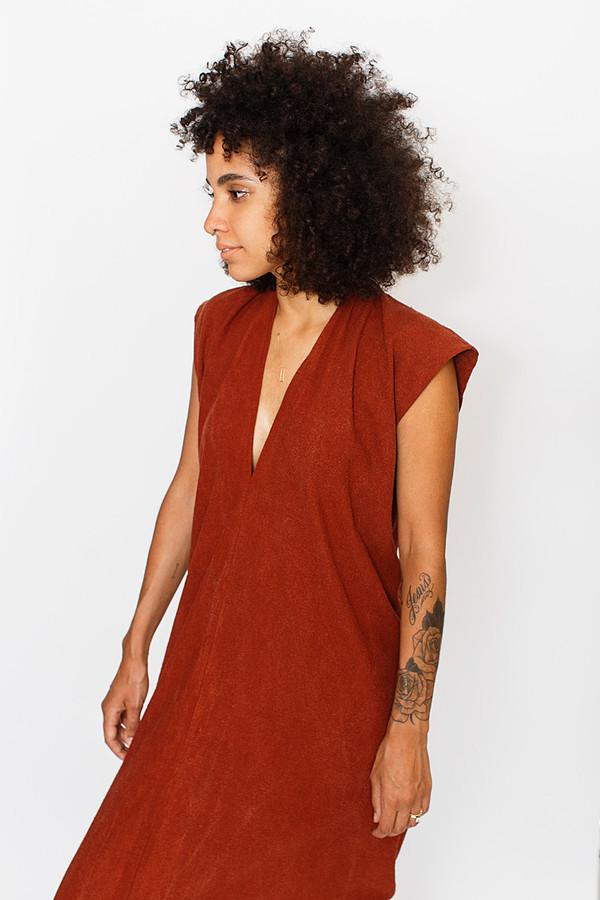Miranda Bennett Rust Everyday Dress | Silk