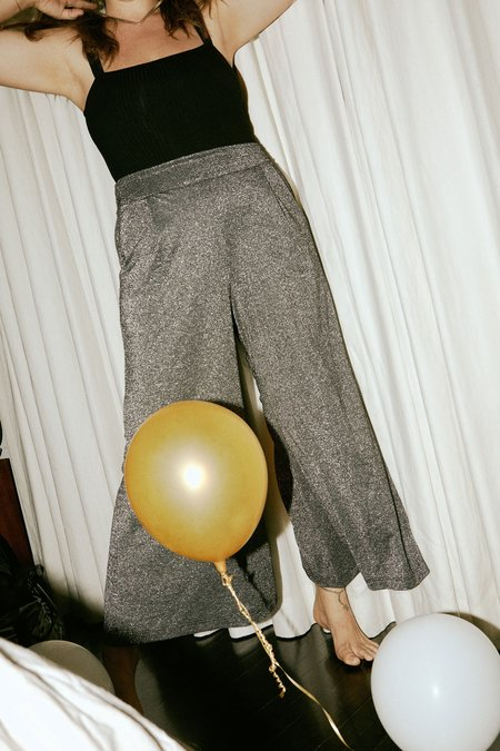 Whimsy + Row Valentina Pant - Metallic Black