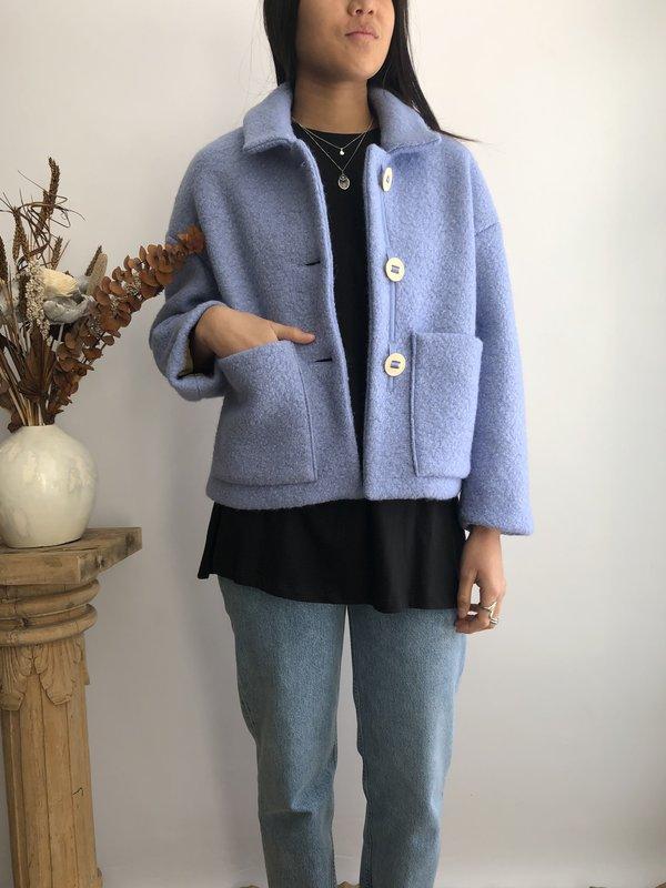 ODEYALO MARCONI COAT - BLUE