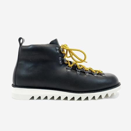 Fracap M120 Magnifico Leather Boots with Fur Lining - Black