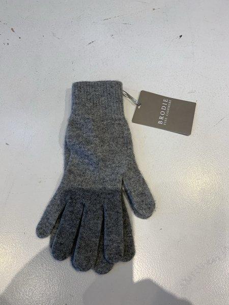 Brodie Cashmere Classic Brodie Gloves - Super Grey