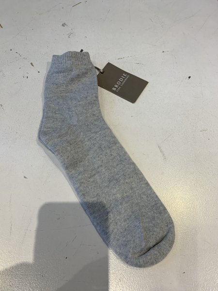 Brodie Cashmere Cosy Bed Sock - Mid Grey