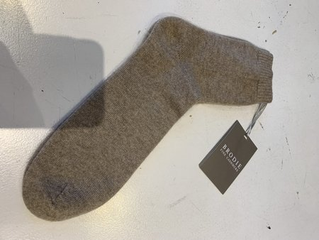 Brodie Cashmere Cosy Bed Sock - Organic Light Brown