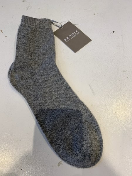 Brodie Cashmere Cosy Bed Sock - Super Grey
