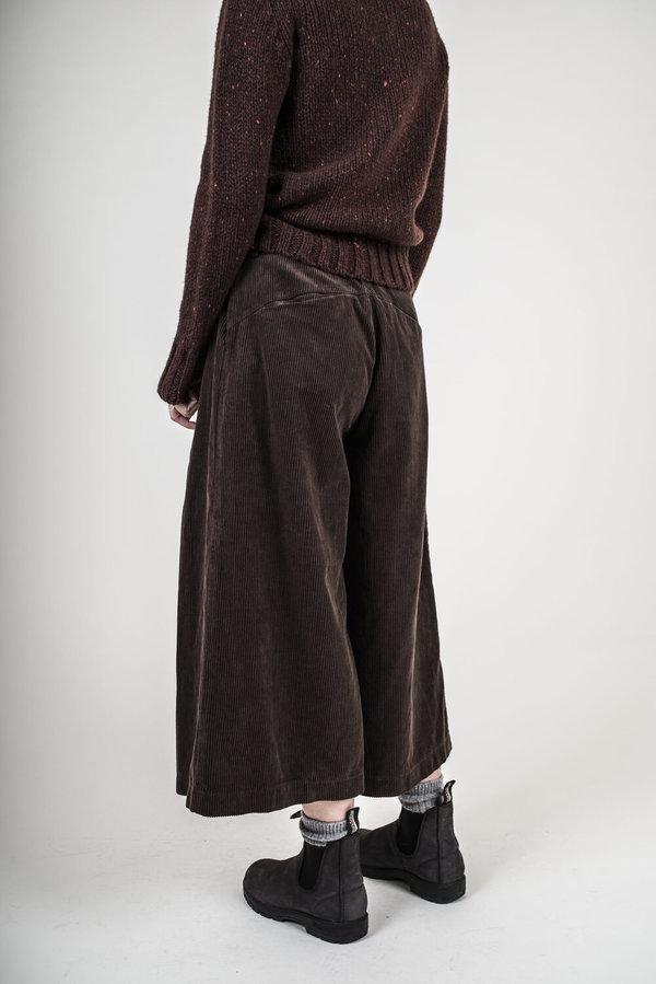 Blue Blue Japan Wide Leg Corduroy Trousers - Brown