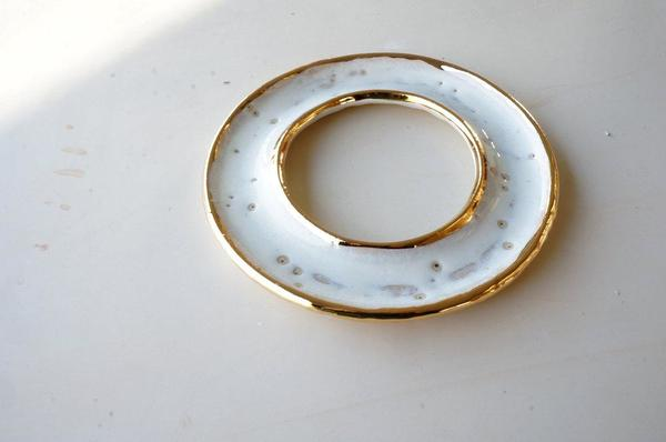The Object Enthusiast Golden Donut Dish