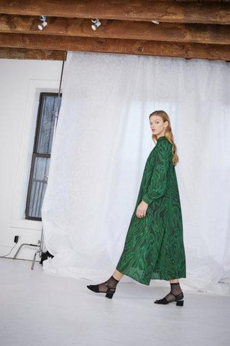 WHiT ANSELM DRESS - MALACHITE EMERALD