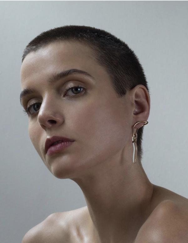 Annika Inez Clasped Wand Earring