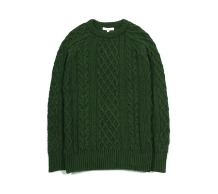 Far Afield Deniz Cable Knit Cashmere pullover - Green
