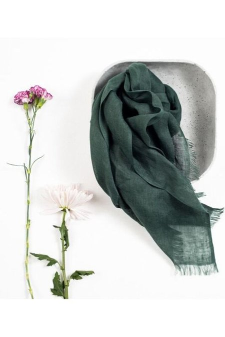 Variously Linen Scarf - Moss
