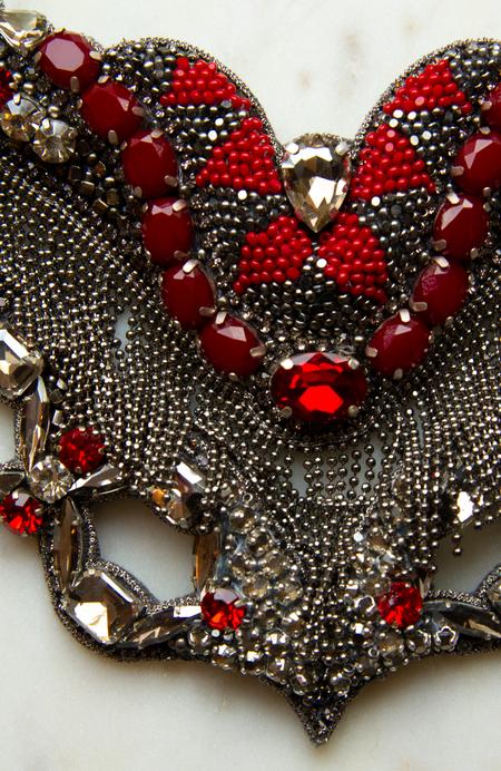 Deepa Gurnani Broken Mirror Necklace - Gun