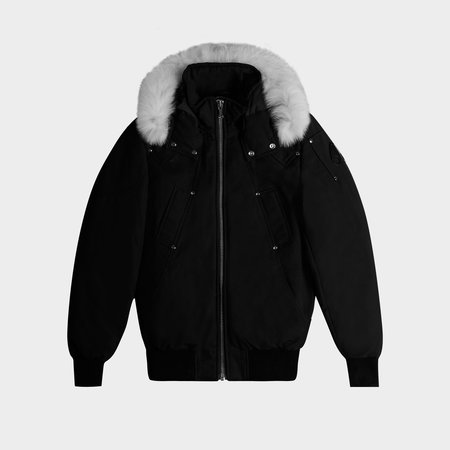 MOOSE KNUCKLES Balistic Bomber - Black/Natural