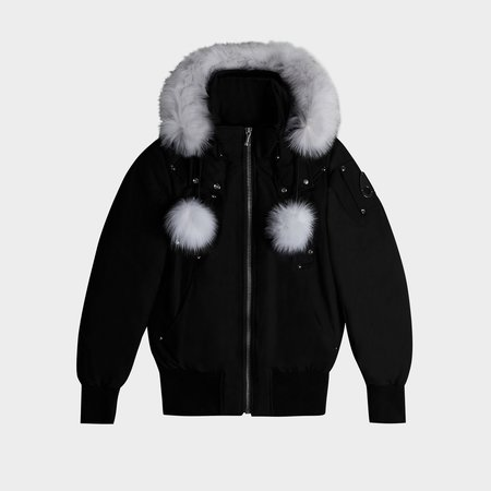 MOOSE KNUCKLES Debbie Bomber - Black/Natural