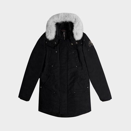 MOOSE KNUCKLES Stirling Parka - Black/Natural