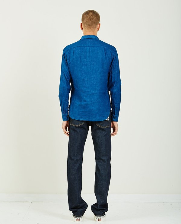 KATO THE RIPPER VINTAGE DOUBLE GAUZE SHIRT - INDIGO