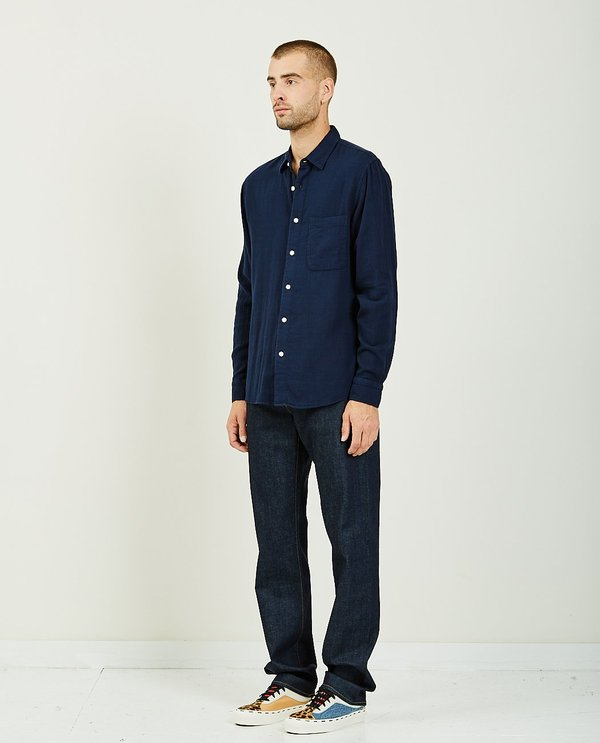 KATO THE RIPPER SHIRT - NAVY VINTAGE DOUBLE GAUZE