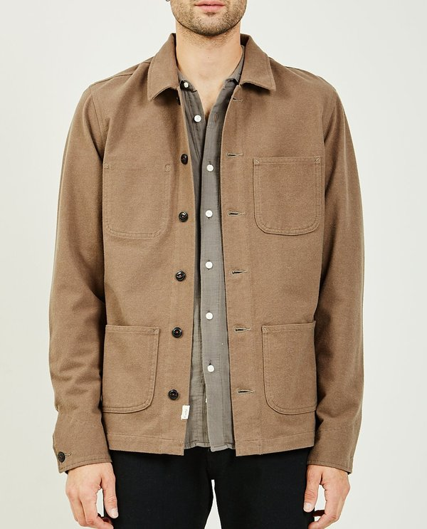 KATO THE VISE CHORE JACKET - CAMEL
