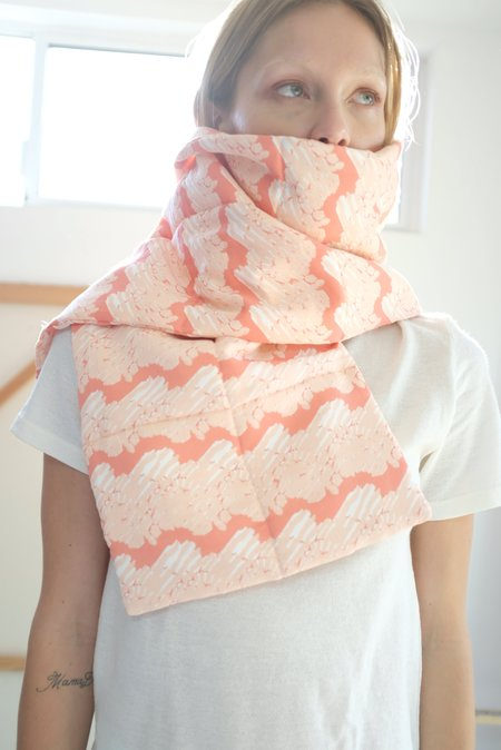Beklina Quilted French Ribbon scarf - Coral