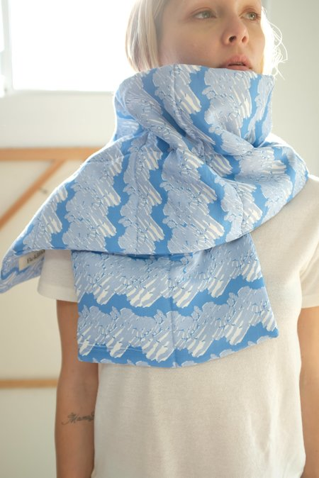 Beklina Quilted French Ribbon Scarf - Hydrangea