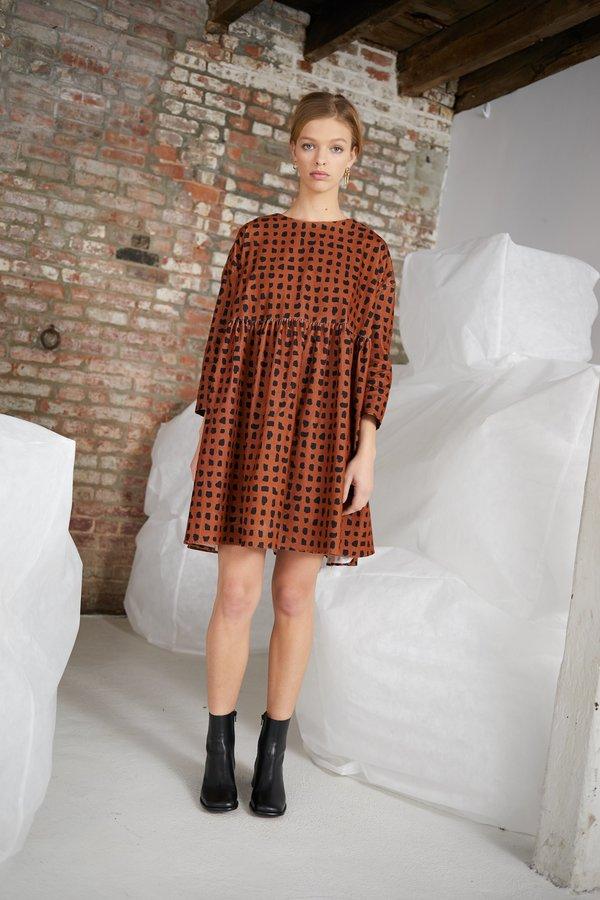 WHiT Sab Confetti Check Dress - Mocha