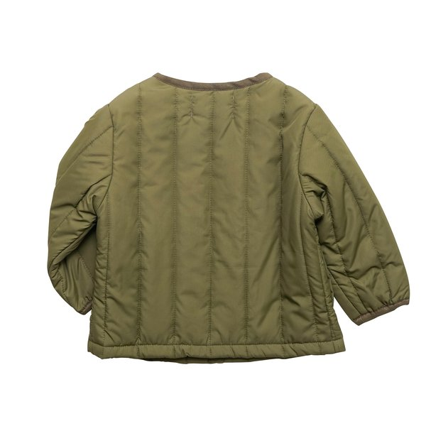 Kids Arch & Line Quilted Jacket - Olive