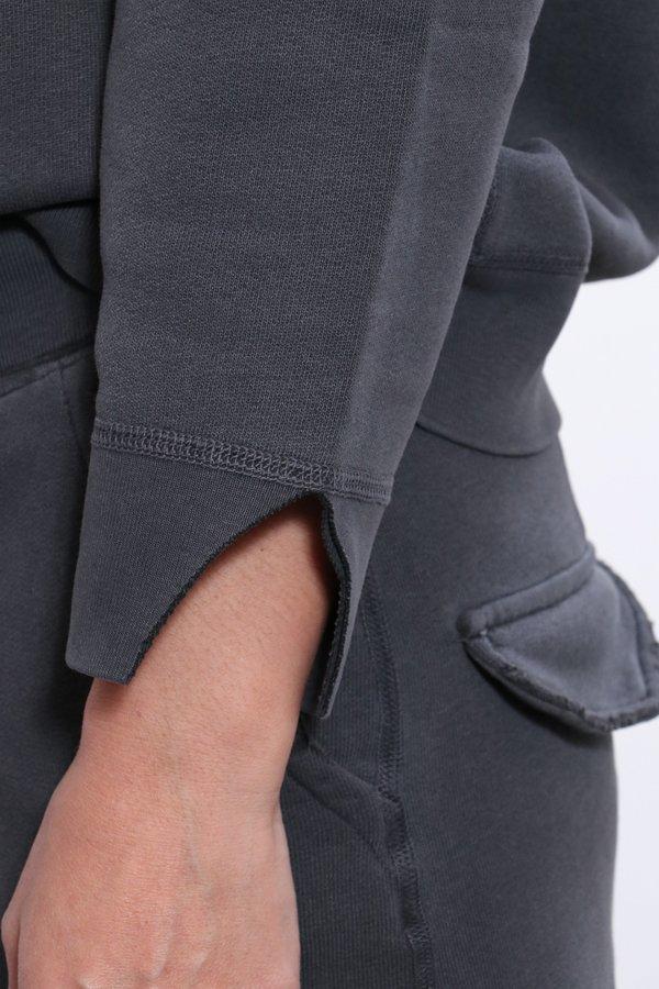 Nili Lotan Luka Scoop Neck Sweatshirt - Gunmetal
