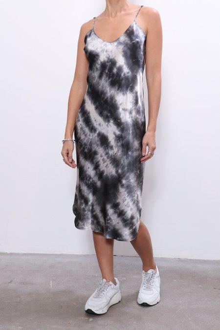 Nili Lotan Short Cami Dress - Gunmetal Tye Dye