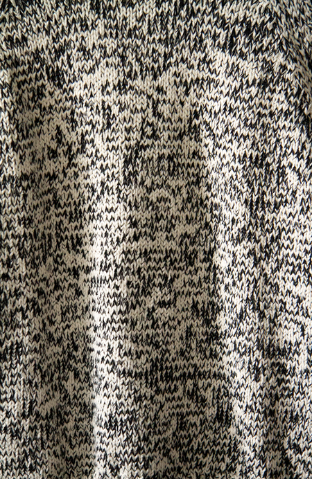 Indigenous Chunky Raglan Sweater - Black/Ivory