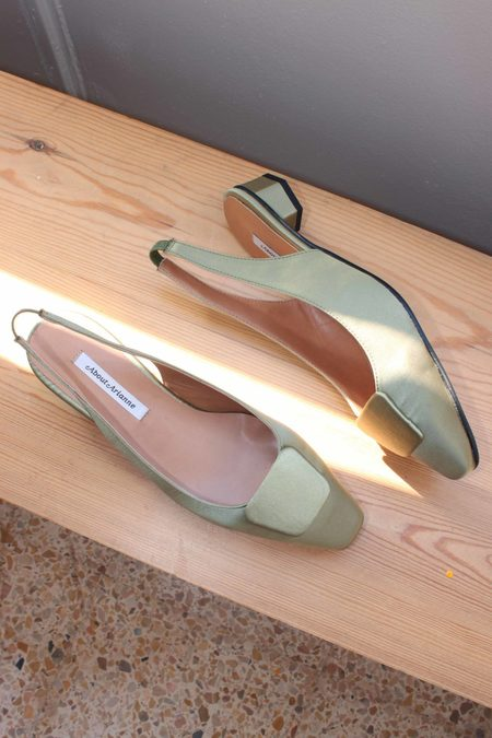 About Arianne Galo Beauty Satin Slingbacks - Dore