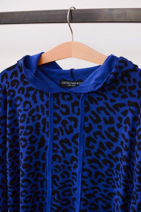 Central Park West Miami Hoodie - Blue Leopard