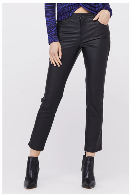 David Lerner Jagger High-Waist Pant -  black