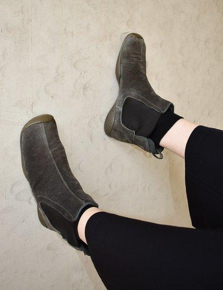 Vintage Prada Suede Slip On Boots - Slate