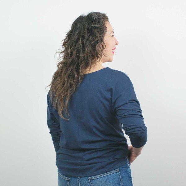 Atelier b. Long Sleeve Top - Denim Blue