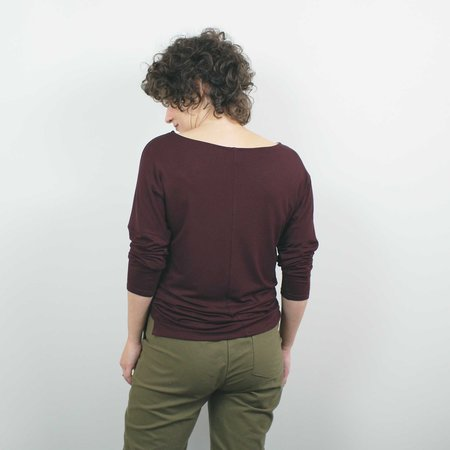 Atelier b. Long Sleeve Top - Wine